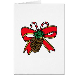 Decoración del navidad tarjeta de felicitación