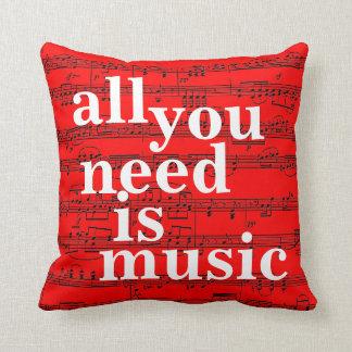 decoración del tema de la música cojín
