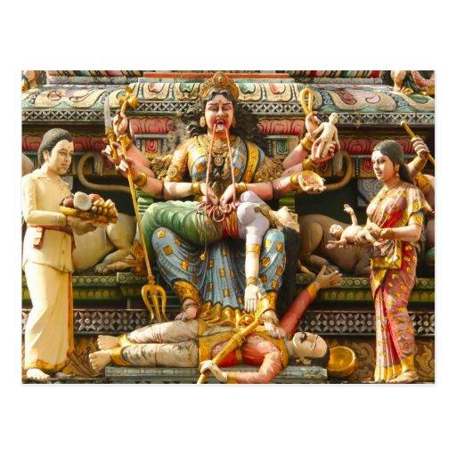Decoración del templo tarjetas postales