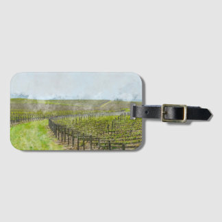 Decoración del vino y de la uva etiqueta para maletas