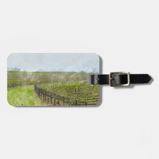 Decoración del vino y de la uva etiquetas para maletas