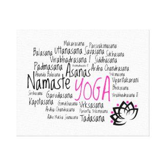 Decoración elegante de la yoga