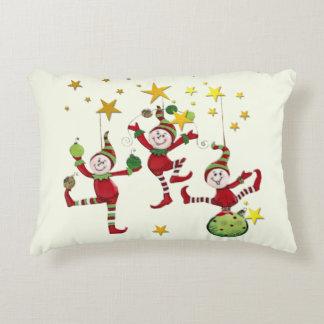 DECORACIÓN festiva del navidad de los duendes Cojín Decorativo