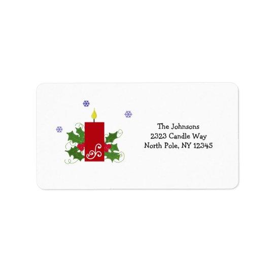 Decoración festiva del navidad etiquetas de dirección