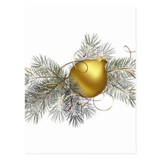 Decoración festiva del oro postal