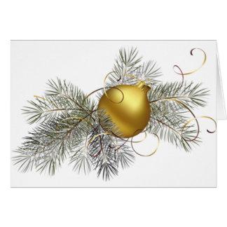 Decoración festiva del oro tarjeta de felicitación