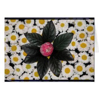 Decoración floral tarjeton
