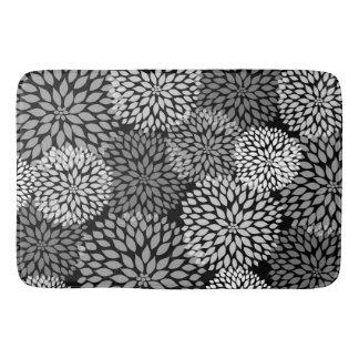 Decoración floral gris blanca negra del baño de