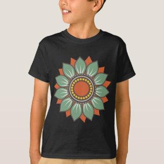 Decoración floral hermosa de moda camiseta