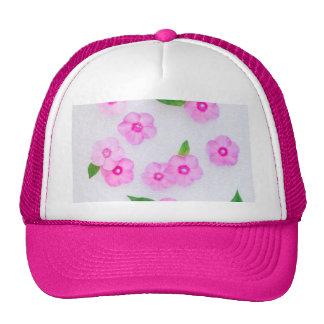 decoración floral hermosa gorras