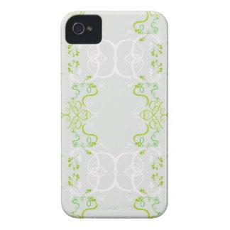 Decoracion floral primavera verde Case-Mate iPhone 4 protectores