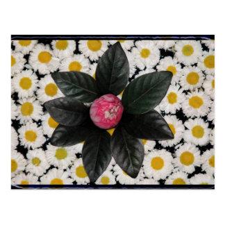 Decoración floral postal