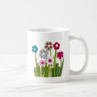 decoración floral taza básica blanca