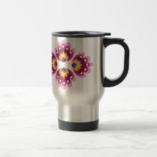 Decoración floral taza de café