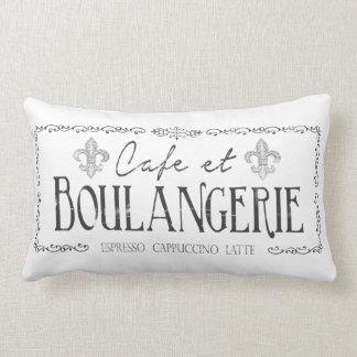 Decoración francesa del café y de la almohada de