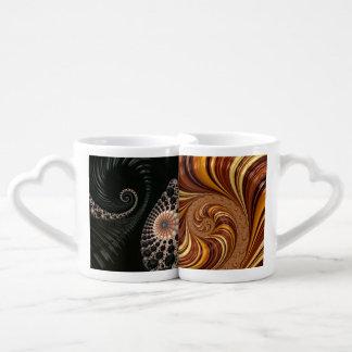 Decoración hermosa del arte del fractal taza para enamorados