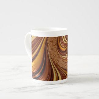 Decoración hermosa del arte del fractal taza de porcelana