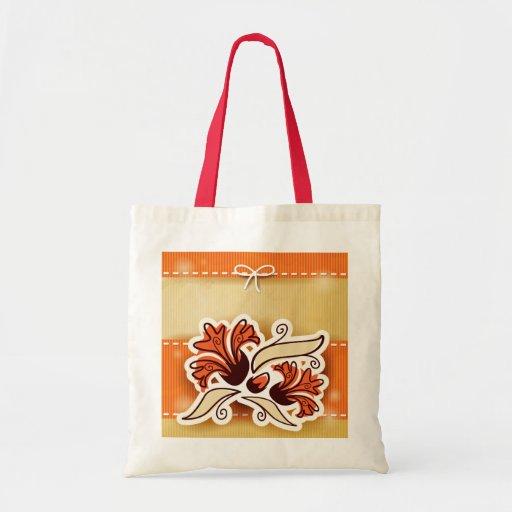 Decoración moderna con la flor, almohada bolsas