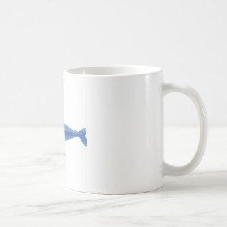 Decoración náutica de la ballena gris de taza básica blanca