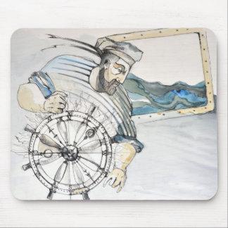 Decoración náutica del marinero alfombrilla de ratón