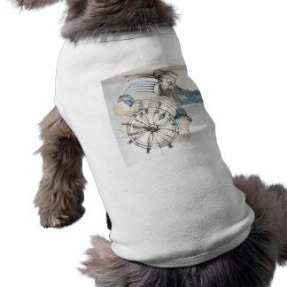 Decoración náutica del marinero camiseta sin mangas para perro