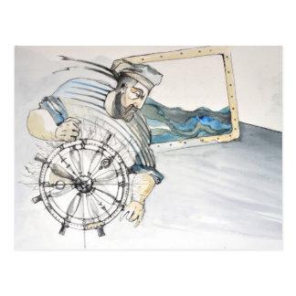 Decoración náutica del marinero postal