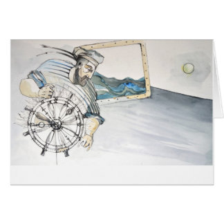 Decoración náutica del marinero tarjeta de felicitación