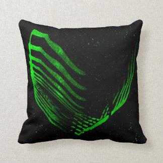 Decoración negra de la almohada de tiro del