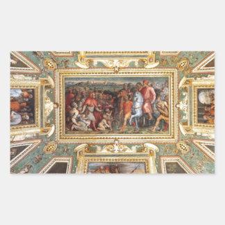 Decoración Palazzo Vecchio Florencia Giorgi del Pegatina Rectangular