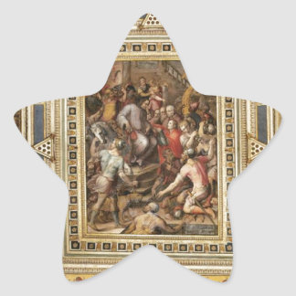 Decoración Palazzo Vecchio, Giorgio Vasari del Pegatina En Forma De Estrella