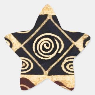 Decoración primordial africana pegatina en forma de estrella