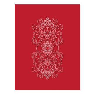 decoración rica brillante roja tarjeta postal