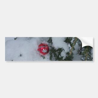 Decoración roja en nieve pegatina para coche