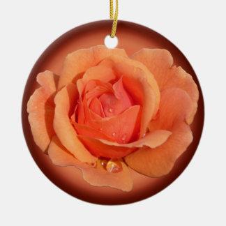 Decoración subió personalizada ornamento color de adorno navideño redondo de cerámica
