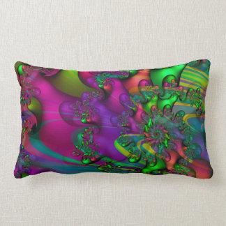 Decoración vibrante colorida del fractal de la almohadas