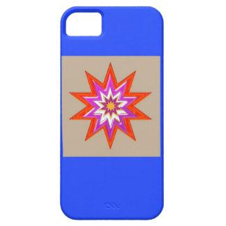 Decoraciones de la ESTRELLA: Fondo AZUL LOWPRICES iPhone 5 Coberturas