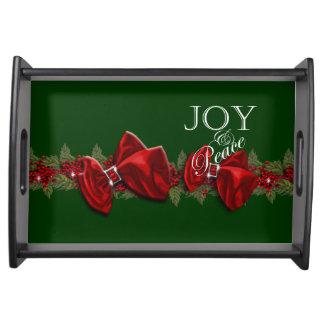 Decoraciones de la guirnalda del navidad elegantes bandejas