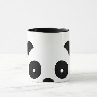 Decoraciones de la taza de la panda, blancas y