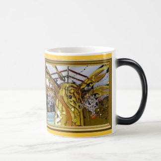 Decoraciones de oro taza mágica