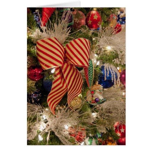 Decoraciones del árbol de navidad tarjetón