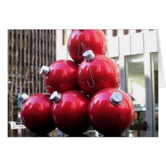 Decoraciones del árbol de navidad tarjeta de felicitación
