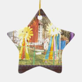 Decoraciones del GIRASOL en el festival la India Adorno Navideño De Cerámica En Forma De Estrella