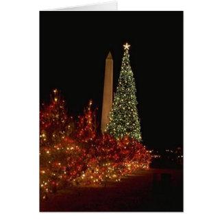 Decoraciones del navidad en la alameda del Washing Tarjeta De Felicitación