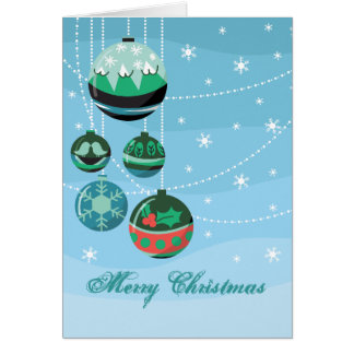Decoraciones del navidad tarjeta