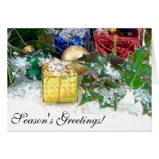 Decoraciones del navidad tarjeta de felicitación