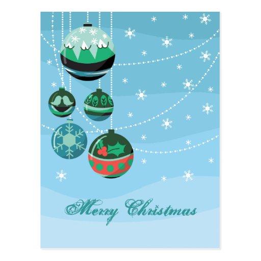 Decoraciones del navidad tarjetas postales