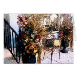 Decoraciones del otoño tarjeta de felicitación