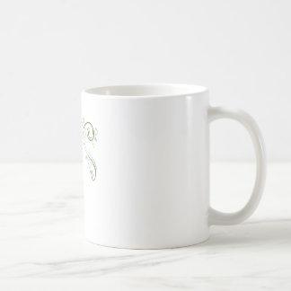 Decoraciones del remolino taza básica blanca