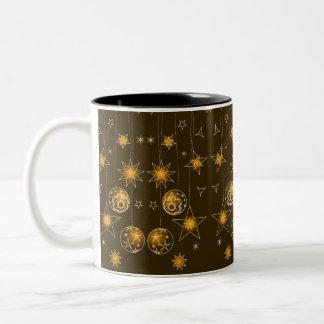 Decoraciones elegantes de lujo del navidad del ama taza