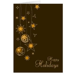 Decoraciones elegantes de lujo del navidad del tarjeta de felicitación
